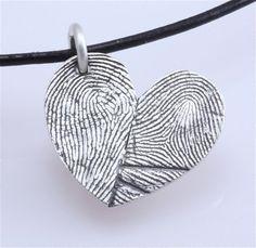 double fingerprint necklace