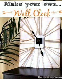 DIY Wall Clock tutorial. Love this!