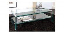 table basse rectangle en verre