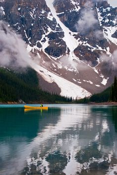 Wow this is beautiful ... such strength and peace all at the same time:) Morraine Lake, Alberta, Canada