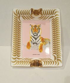 Hermes Ashtray Tiger