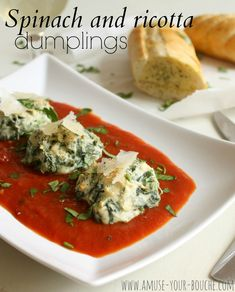 Spinach and ricotta dumplings [Amuse Your Bouche]