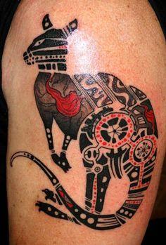 Australian Aboriginal Tattooing Art photos