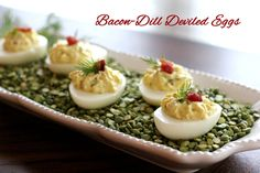 Melissa's Southern Style Kitchen: Bacon-Dill Deviled Eggs