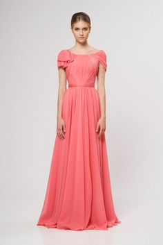 this is such a pretty coral dress