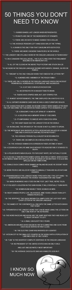 50 Useless Facts