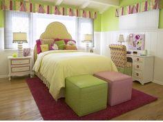pinkgreen girl bedroom