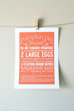 Recipes as art. Would be so cute to frame family recipes in your kitchen!