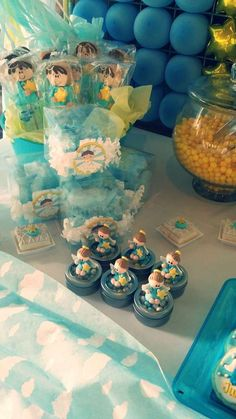 Cute favors at an Angel Baptism Party!  See more party planning ideas at CatchMyParty.com!