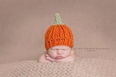 Crochet Pattern for Pumpkin Beanie Hat 5 by crochetbyjennifer