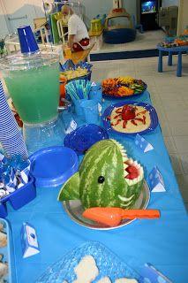 Finding nemo party shark watermelon bowl