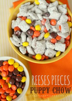 Reeses Pieces Puppy Chow recipe