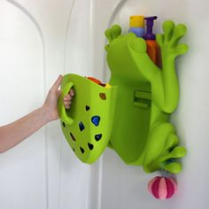 The Frog Pod – a favorite bath storage organizer with multiple functions