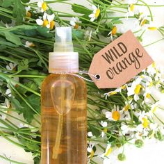 Our DIY recipe for a Chamomile and Wild Orange Face Mist for Sensitive Skin… this smells like heaven!