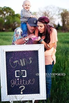 What a cute way to reveal the gender of the baby!