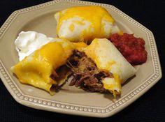 dinner, bake beef, yummain dish, food, mexican, chimichanga recip, beef recip, yummi, beef chimichanga