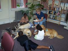 Support Dogs, Inc. has developed an incentive program for the classroom in which children that read a specific number of books receive a special book of their choosing and a certificate signed by the canine classmate. If the child reads a high number of books, a special book is donated to the school library in the student's honor