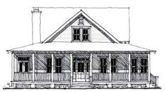 Elevation of Country   Historic   House Plan 73859