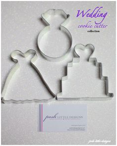 Bach party cookies: Wedding Cookie Cutter Collection Set - 3 piece. $5.85, via Etsy.