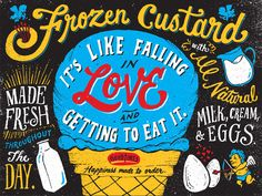 Frozen custard typography