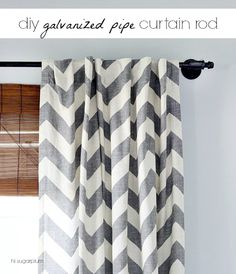 DIY Galvanized Pipe Curtain Rod @Cassandra Guild {Hi Sugarplum}