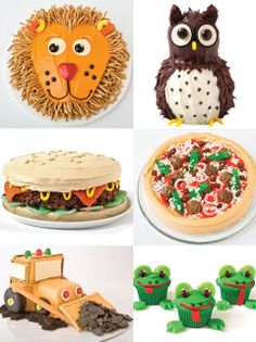 Fun birthday cakes.