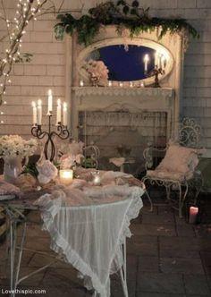 romanc, romantic settings, romantic dinners, shabbi chic, shabby chic