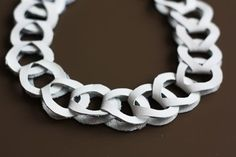 DIY leather chain necklace