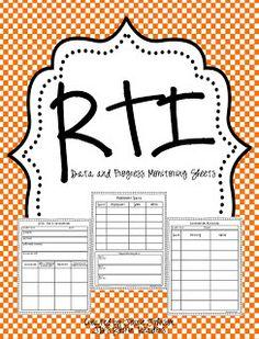 RTI Progress Monitoring FREEBIE