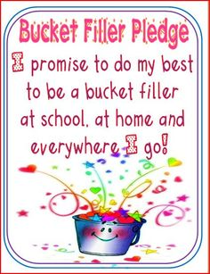 Bucket Filler Pledge