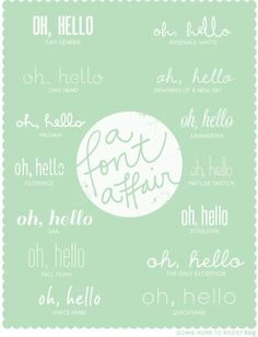 a font affair | going home to roost