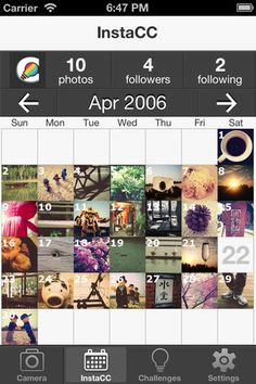 InstaCC : InstaCC puts a new spin on Instagram with Calendar & Challenges.