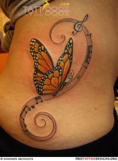 Monarch Butterfly Tattoo On Side Images & Pictures - Becuo
