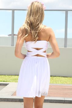 Criss Cross Bodice Dress