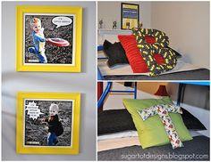Cute shared boys room idea, superheros!