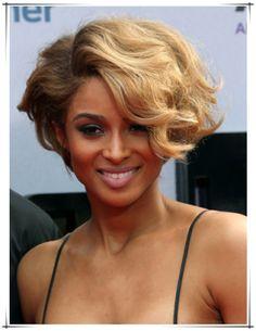 Ciara with wedge-shape bob