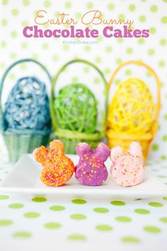 Easter Bunny Chocolate Cakes. cuteness!