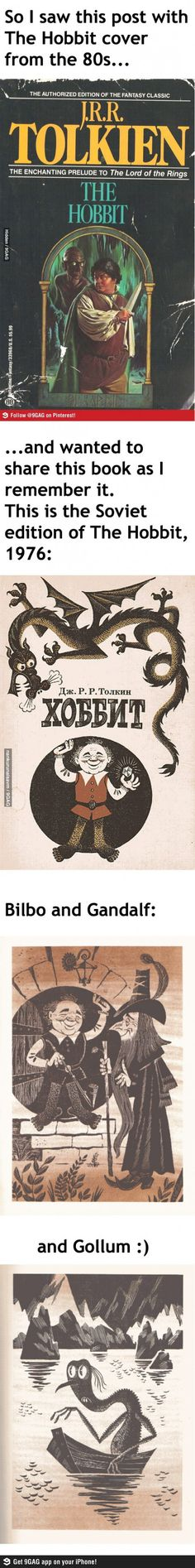 The Soviet edition of 'The Hobbit'... Gollum made me laugh way too hard!