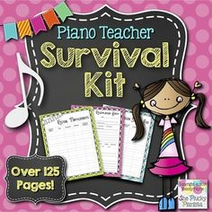Piano Teacher Survival Kit: Over 125 Pages of Forms, Calen