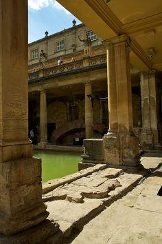 The Great Bath, Roman Baths, Bath, Somerset, England