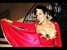 Kris Jenner's Nip Slip In Wonder Women Dress