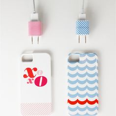 Identify iPhone Chargers Using Washi Tape? #DIY #Craft #Organize #home #deco #IPHONE #mobile