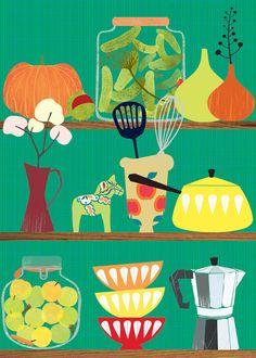 cute kitchen print