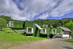 Here's a House That's Been Clad Entirely in Fake Grass