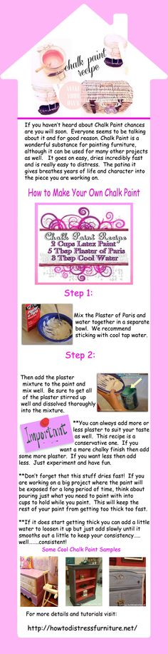 How To Make Chalk Paint   Homemade Chalk Paint Recipe   How To Distress Furniture   Distressed Furniture Tutorials