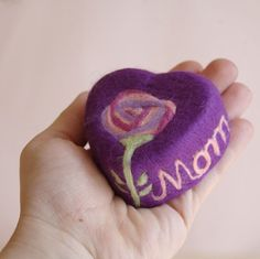 """Felted """"Mom"""" Soap"""