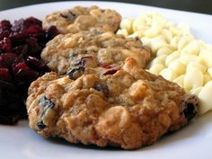 white chocolate chip cranberry oatmeal cookies