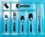7-Piece Acrylic Utensil Organizer!!! I like this deep silverware holder, and Lord knows I can never get enough acrylic drawer organizers...