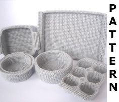 Baking Dishes Crochet Pattern - finished items made from pattern may be sold. $8.00, via Etsy.