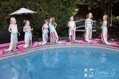 Gorgeous Mermaid Party! Love the towels, how creative! Found via www.karaspartyideas.com